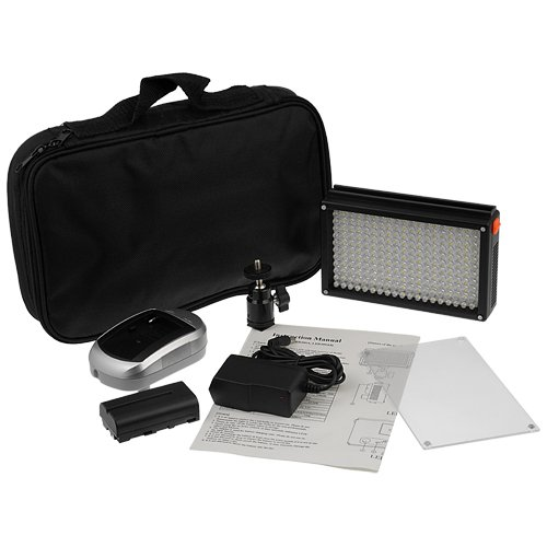 Fotodiox プロ LED 209AS, ビデオ LED Light キット, with Dimmable Switch, デイライト / タングステン Switch 1x ソニー type バッテリー, バッテリー Charger, リムーバブル Diffuser, and ホット ショット Mount, フィット Canon Camcorder, 「汎用品」(海外取寄せ品)
