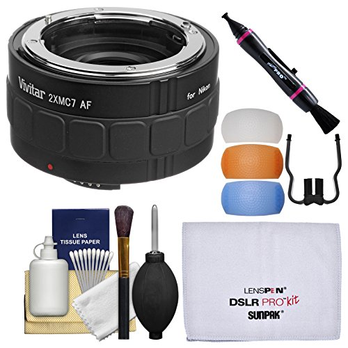 Vivitar Series 1 2x 7 エレメント Teleconverter with フラッシュ Diffusers + Cleaning キット for Nikon デジタル SLR Cameras & Lenses (海外取寄せ品)
