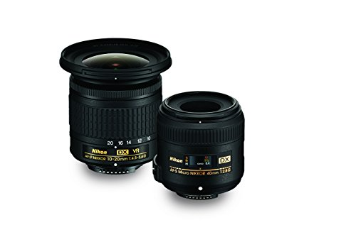 Nikon Landscape & Macro Two レンズ キット with 10-20mm f/4.5-5.6G VR & 40mm f/2.8G (海外取寄せ品)