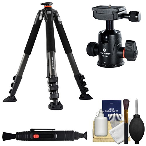Vanguard ABEO Plus 364CT カーボン ファイバー Tripod with TBH-250 Magnesium Ball Head + Cleaning キット (海外取寄せ品)