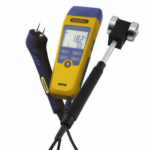 General Tools MM70D-7022KIT Moisture メーター キット, ピン Type or Pinless, With Two Probes and ケース 「汎用品」(海外取寄せ品)