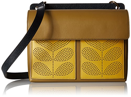 Orla Kiely PUnched ポケット レザー ロビン Bag, Moss 『海外取寄せ品』