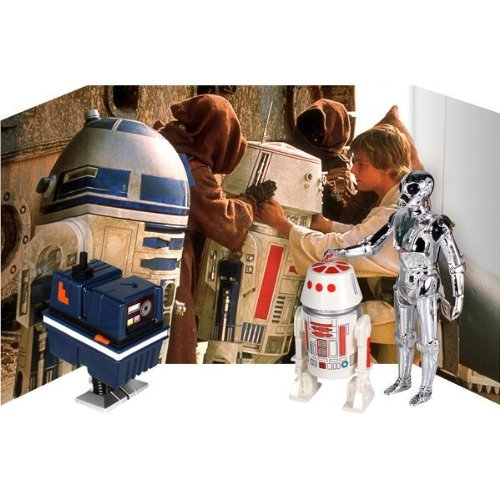 スターウォーズ Star wars Droid ジャンボ Kenner アクション Figure セット with Backdrop by Gentle Giant (3-Pack), 12