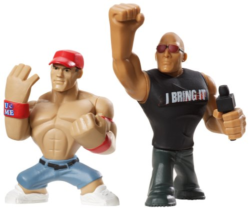 WWE Rumblers The ロック and John Cena Figure 2-パック (海外取寄せ品)