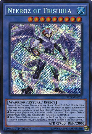 遊戯王 Yu-Gi-Oh! - Nekroz of Trishula (THSF-EN015) - The Secret Forces - 1st Edition - Secret Rare (海外取寄せ品)