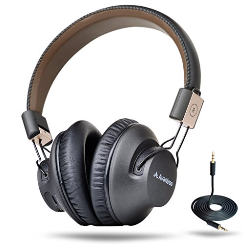 Avantree 40 hr Wireless ブルートゥース 4.1 オーバー-the-Ear Foldable Headphones / ヘッドセット with Mic, APTX ロー LATENCY ファスト Audio for TV PC Cell Phones, with NFC, Wired mode - Audition プロ [2-Year Warranty] 『海外取寄せ品』