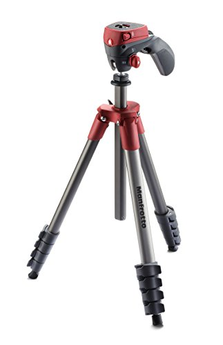 Manfrotto MKCOMPACTACN-RD Compact アクション Tripod (Red) (海外取寄せ品)