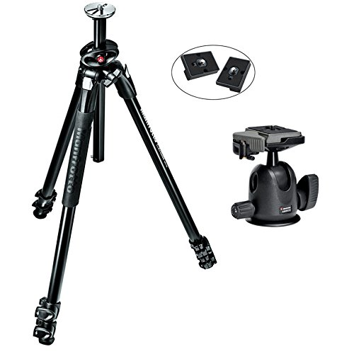 Manfrotto MT290XTA3US 290 Xtra 3-Sec Aluminum Tripod キット With 496RC2 Professional Tripod Ball Head with Two リプレイスメント クイック リリース プレート for the RC2 Rapid Connect Adapter (海外取寄せ品)