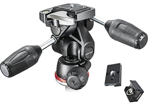 Manfrotto MH804-3WUS 3 ウェイ head with Two リプレイスメント クイック リリース プレート for the RC2 Rapid Connect Adapter (海外取寄せ品)