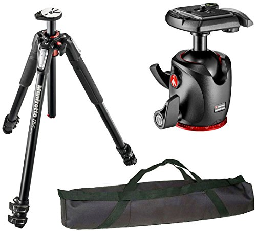 Manfrotto MT055XPRO3 055 アルミニウム 3-Section Tripod キット with MHXPRO-BHQ2 XPRO Magnesium Ball Head and a VidPro 35 インチ Tripod ケース (海外取寄せ品)