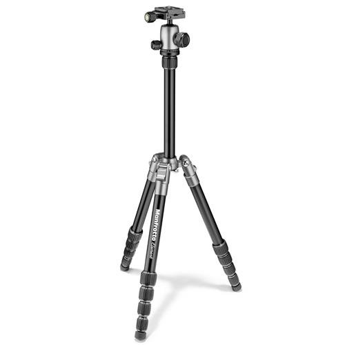 Manfrotto Element トラベラー スモール 5-Section Aluminum Tripod with Ball Head, Holds 8.8 Lbs, Extends to 53