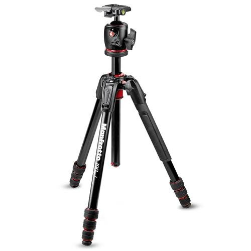 Manfrotto 190go! M-Series 4-Section ツイスト ロック Aluminum Tripod with XPRO Ball Head, RC2 クイック-リリース System, 14.33 lbs Capacity, 65