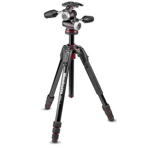 Manfrotto 190go! M-Series 4-Section ツイスト ロック Aluminum Tripod with XPRO 3-ウェイ Head, 13.23 lbs Capacity, 65