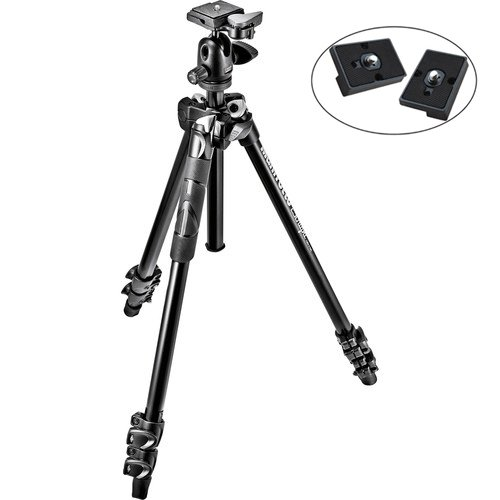 Manfrotto MK290LTA3-BHUS 290 Light Aluminum Tripod with Ball Head ? With Two ZAYKiR クイック リリース プレート for the RC2 Rapid Connect Adapter (海外取寄せ品)