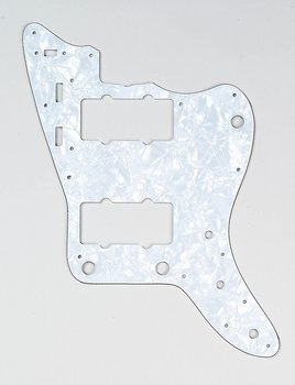 PG-0582-055 ホワイト Pearloid Pickguard for JazzmasterA (海外取寄せ品)