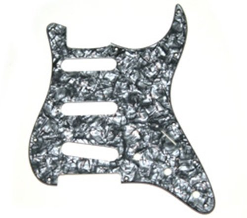 Allparts PG-0552-053 ブラック Pearloid Pickguard for Stratocaster (海外取寄せ品)