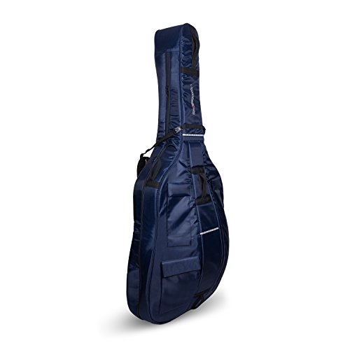 Crossrock 4/4 ストリング Double Bass ソフト Gig Bag with パッド バックパック ストラップ in ブルー (海外取寄せ品)