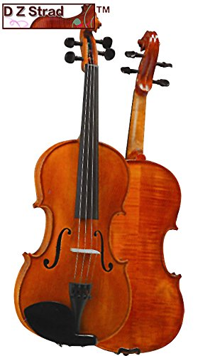 D Z Strad Violin Model 101 with ソリッド ウッド with ケース, ボウ, and Rosin (7/8-size) (海外取寄せ品)