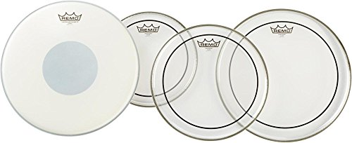 Remo PP1900-PS Clear ピンストライプ Drumhead ProPack with 14-インチ Controlled Sound X Snare Head (海外取寄せ品)