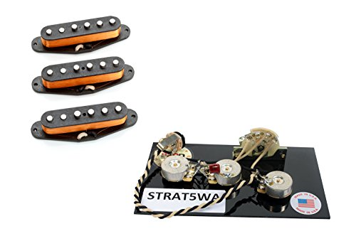 Seymour Duncan SSL-1 ヴィンテージ Staggered for Strat Pickup セット w/ Wiring Harness (海外取寄せ品)