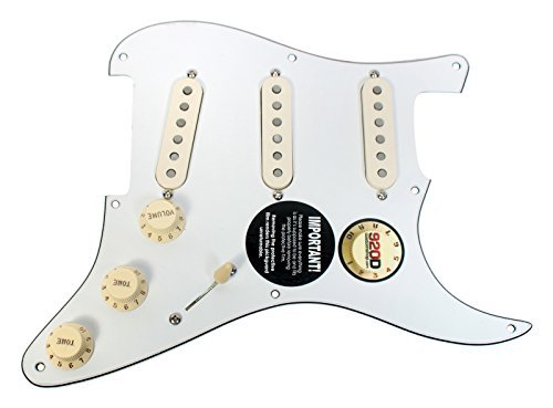 Seymour Duncan SSL-1 Loaded Strat 8-Hole Pickguard Strat WH/AW (海外取寄せ品)