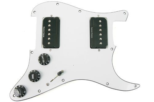 Seymour Duncan P-Rails HH Loaded Strat Pickguard ホワイト / ブラック (海外取寄せ品)