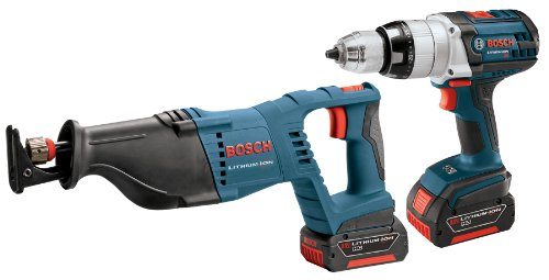 Bosch CLPK201-181 18-Volt Lithium-イオン 2-Tool コンボ キット 1/2-インチ Drill/Driver, Reciprocating ソー, 2 Batteries, Charger and ケース (海外取寄せ品)