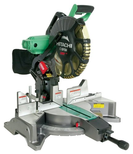Hitachi C12FDH 15 Amp 12-インチ デュアル ベベル Miter ソー with Laser (Discontinued by Manufacturer) (海外取寄せ品)