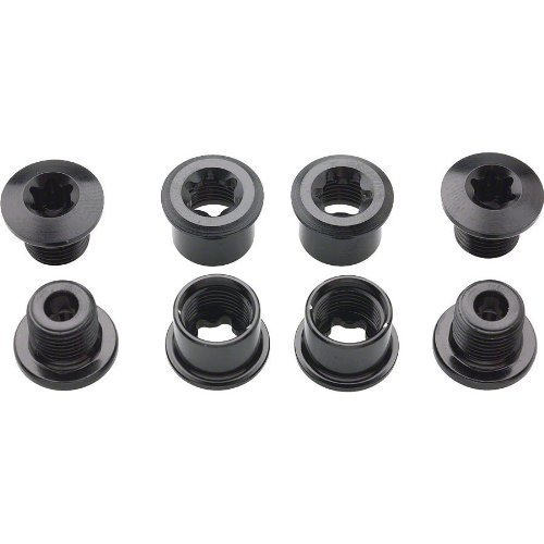 Shimano FC-M970 Double Chainring Bolt and Nut セット (Black, M8x7-mm) by Shimano (海外取寄せ品)