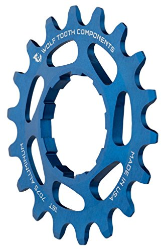 Wolf Tooth コンポーネント シングル スピード Aluminum Cog: 20T, Compatible with 3/32