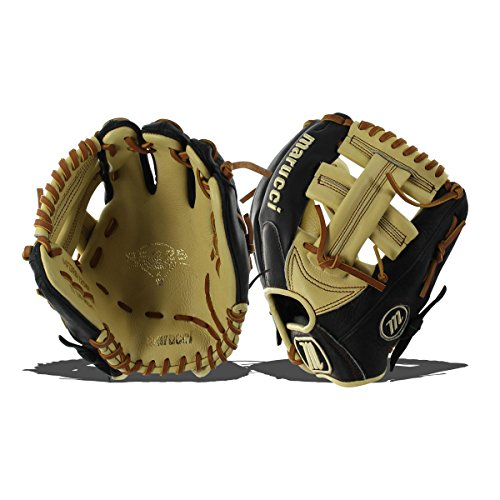 Marucci MFGRS1125SP-BK/MS-RG RS225 Series ベースボール Fielding グローブ, ブラック/Mesa, 11.25