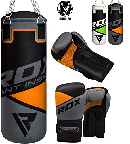 RDX キッズ Punch Bag UNFILLED セット ジュニア Kick Boxing 2FT Heavy MMA Training Youth グローブ Punching Mitts Muay タイ Martial Arts (海外取寄せ品)