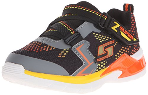 Skechers キッズ Erupters II Light Up スニーカー (Toddler),Black/チャコール/Orange,10 M US Toddler (海外取寄せ品)