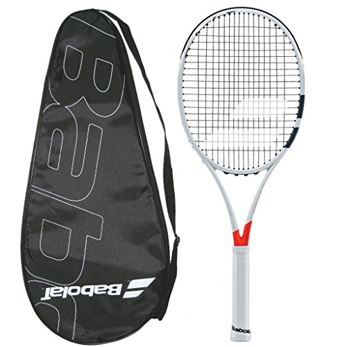 Babolat 2017-2018 ピュア Strike 98 (16x19) - STRUNG with カバー - テニス Racquet (4-3/8) (海外取寄せ品)