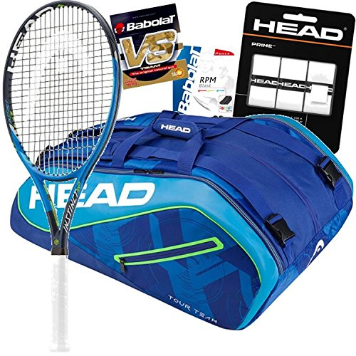 Maria Sharapova HEAD Graphene タッチ Instinct MP テニス Racquet バンドル with Bag, ストリング and Overgrip (Grip サイズ 4 1/2