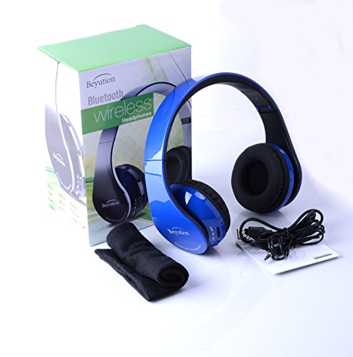 New Royalblue カラー Beyution513 Hi-Fi オーバー-ear ステレオ ブルートゥース Headphones--Built in Mic-phone talk with phone or listen ミュージック clearly, built Noise cancellation テクノロジー, with Retail package! 「汎用品」(海外取寄せ品)