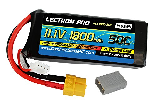 Common Sense RC Lectron プロ 11.1V 1800mAh 50C with XT60 Connector + CSRC adapter for XT60 batteries to Traxxas vehicles 「汎用品」(海外取寄せ品)