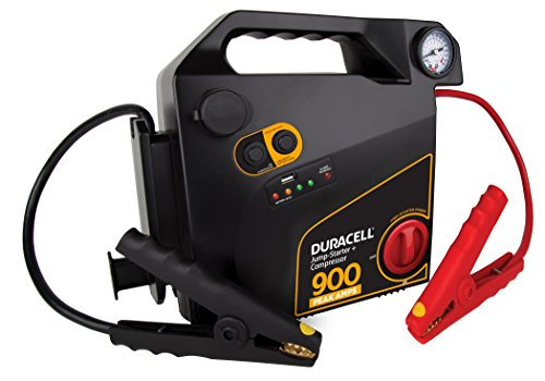 Duracell Portable Emergency Jumpstarter with Compressor, 900 ピーク Amps 「汎用品」(海外取寄せ品)