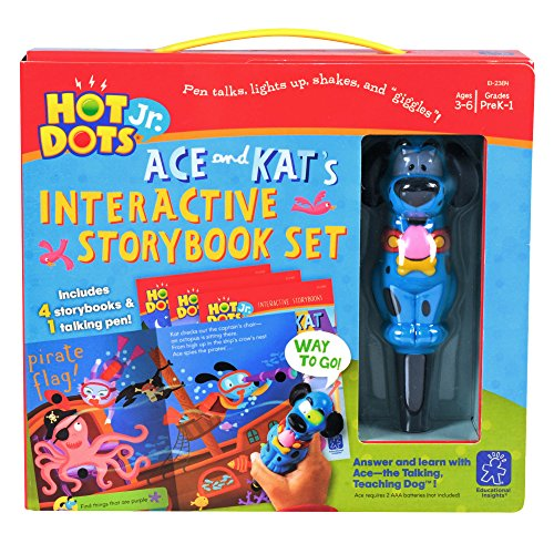 Educational Insights ホット Dots Jr. Interactive Storybooks, 4-ブック セット with Ace ペン 「汎用品」(海外取寄せ品)