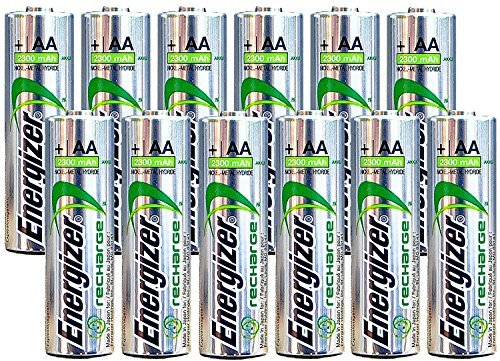 Energizer AA Rechargeable batteries NiMH 2300 mAh 1.2V NH15 - 12 カウント 「汎用品」(海外取寄せ品)