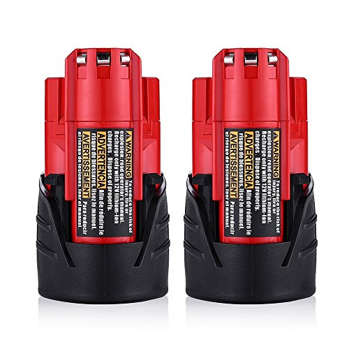 2Packs M12 バッテリー for Milwaukee 12V 2.0Ah Lithium Xc 48-11-2440 48-11-2402 Cordlees Tools 「汎用品」(海外取寄せ品)