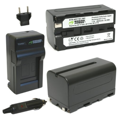 Wasabi Power バッテリー (2-Pack) and Charger for ソニー NP-F730, NP-F750, NP-F760 and NP-F770 「汎用品」(海外取寄せ品)