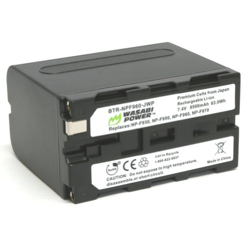 Wasabi Power バッテリー for ソニー NP-F975, NP-F970, NP-F960, NP-F950 (8500mAh) and ソニー DCR-VX2100, DSR-PD150, DSR-PD170, FDR-AX1, HDR-AX2000, HDR-FX1, HDR-FX7, HDR-FX1000, HVL-LBPB, HVR-HD1000U, HVR-V1U, HVR-Z1P, HVR-Z1U, HX 「汎用品」(海外取寄せ品)