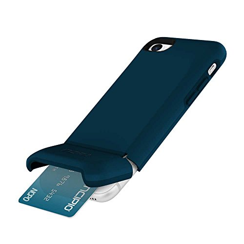 Incipio Stashback iPhone 8 & iPhone 7 ケース with Credit Card スロット Holder and Foldable バック Panel for iPhone 8 & iPhone 7 - ネイビー 「汎用品」(海外取寄せ品)