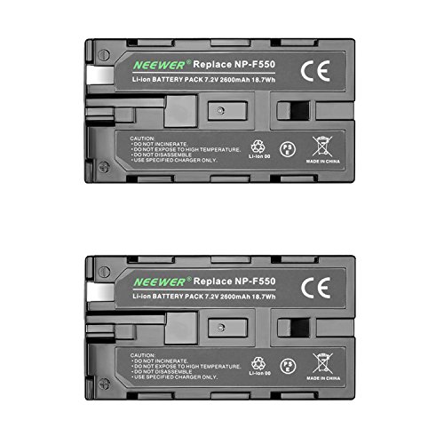 Neewer (2Pack)2600mAh ソニー NP-F550/570/530 リプレイスメント バッテリー for ソニー HandyCams, Neewer Nanguang CN-160,CN-216,CN-126 Series and other LED On-Camera ビデオ ライト Which Using NP-F550 「汎用品」(海外取寄せ品)