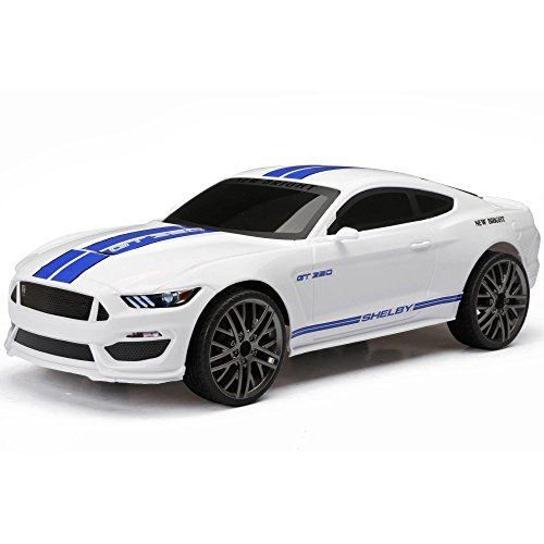 New ブライト SHELBY MUSTANG GT 350 (White) Full Function R/C Vehicle Chargers - インクルーズ USB for Charging - オール Batteries インクルード 1:15 Scale by New ブライト 「汎用品」(海外取寄せ品)