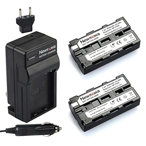 Newmowa NP-F550 バッテリー (2-Pack) and Charger キット for ソニー NP-F330,F550,F570 and ソニー CCD-SC55,TR516,TR716,TR818,TR910,TR917 Camera 「汎用品」(海外取寄せ品)