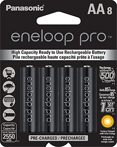 Panasonic BK-3HCCA8BA eneloop プロ AA ハイ Capacity Ni-MH Pre-Charged Rechargeable Batteries, 8 パック 「汎用品」(海外取寄せ品)