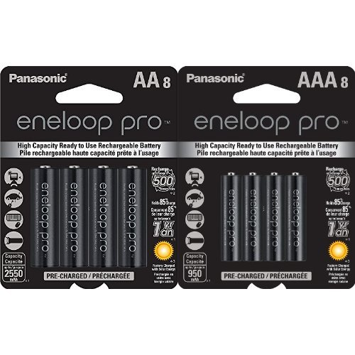 Panasonic Eneloop プロ AA and AAA ハイ Capacity Ni-MH Pre-Charged Rechargeable Batteries バンドル (8 パック of Each) 「汎用品」(海外取寄せ品)