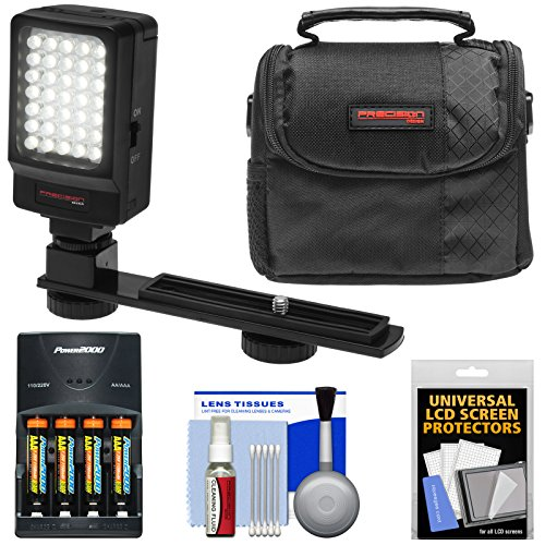 Essentials バンドル for Vivitar DVR-508 & DVR-949 HD デジタル ビデオ Camera Camcorder with LED ビデオ Light + AAA Batteries & Charger + ケース + キット 「汎用品」(海外取寄せ品)